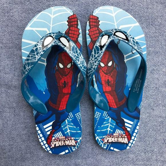 Primark Shoes   Spiderman Flip Flops